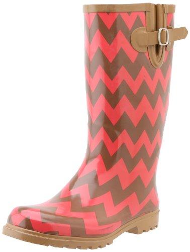 UPC 637923669764, Nomad Footwear Women's Puddles Rainboot, Brown/Coral Chevron, 11 M US