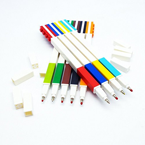 LEGO Stationery - Colored Gel Pens 9 Pack with Building Bricks