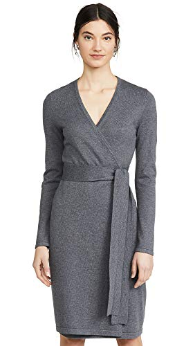 Diane von Furstenberg Women's New Linda Dress, Charcoal Melange, Grey, Medium from Diane von Furstenberg
