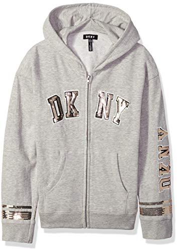 DKNY Girls Sequin Fleece Hoodie,