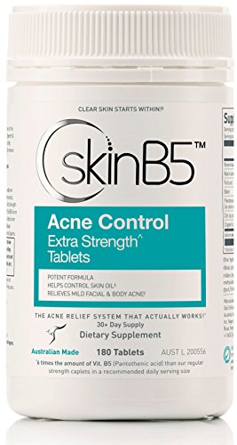 (SkinB5 Acne Control Skin Care Treatment, Extra Strength Tablets, 180 tablets)