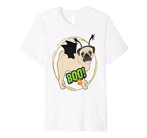 Pug Dog Halloween Costume Shirt Cute Vampire Bat -