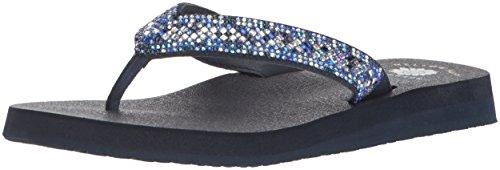 Yellow Box Women's Soriano Sandal, Black, Medium Blue