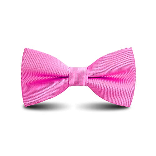Men's Bow Ties Classic Pre-tied Adjustable for Boy in Gift Box Ties,by Anrinwei (Rose Red) - Musical Red Rose