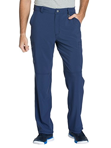 (Cherokee Infinity CK200A Men's Fly Front Cargo Pant Navy M)