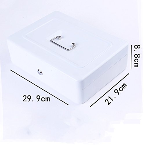 Locked password lock piggy bank Iron box small safe money box Storage portable money jar Large (Atm Ribbons)