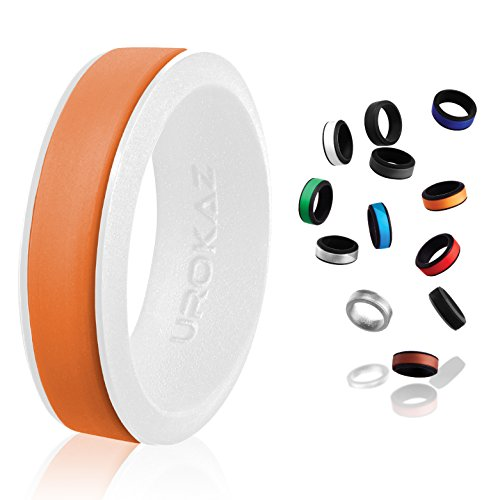 UROKAZ - Silicone Wedding Ring, The Only Ring that Fits Your Lifestyle - Whether You are Single or Married, Ring is Right for You - It is Fashionable, Flexible, and Comfortable by UROKAZ