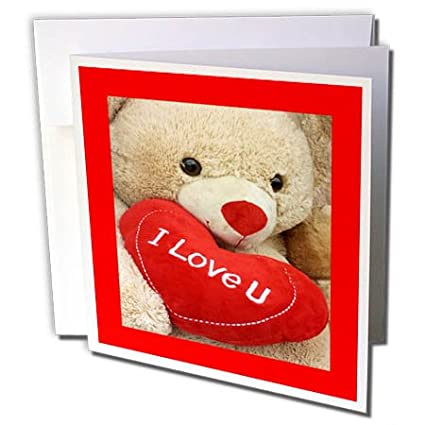 Amazon 3drose valentine designs image of teddy bear says i 3drose valentine designs image of teddy bear says i love you with heart in mouth m4hsunfo