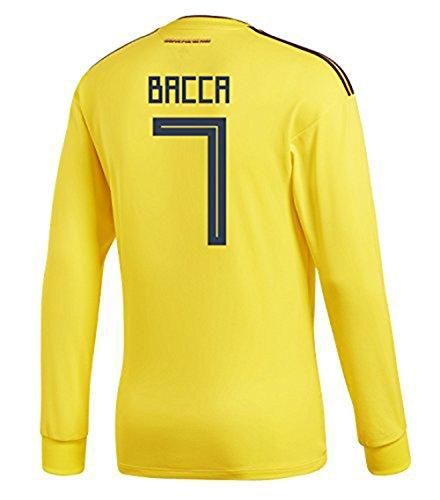 マサッチョ区別するベアリングadidas Mens BACCA #7 Colombia Home Long Sleeve Soccer Jersey World Cup 2018 /サッカー ユニフォーム バッカ 背番号 7 コロンビア ホーム用 長袖