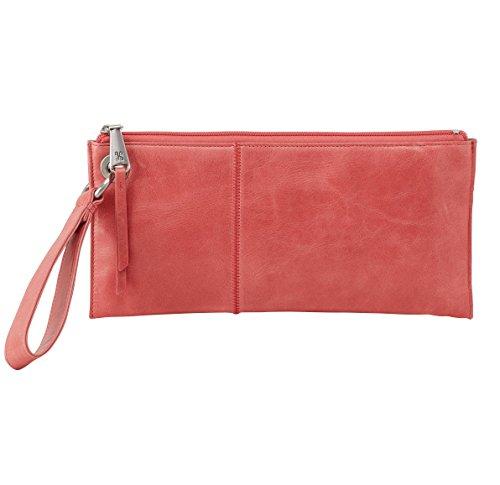 [Hobo Womens Leather Vintage Vida Clutch Wallet (Coral)] (Hobo Purses)