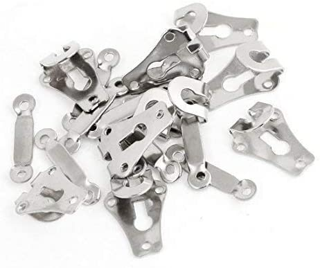 50 Sets of 9mm Trousers Hooks and Bars Eyes Fasteners Sew for Skirt and Tunic