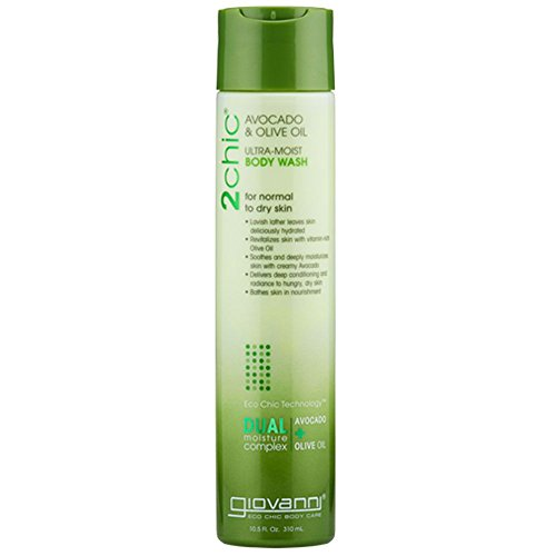 Giovanni 2chic Avocado and Olive Oil Ultra-Moist Body Wash, 10.5 Fluid Ounce