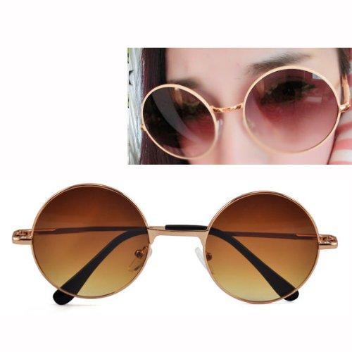 Sonline Brown Hippie Glasses Sunglasses