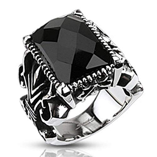 ed Stone Set Gothic Ring 316L Stainless Steel (Width: 0.98