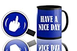 Have A Nice Day Middle Finger Coffee Mug, Funny Cup With Middle Finger On The Bottom,funny Gift For Man Or Woman, 11 Oz Ceramic Coffee Mug | Great Christmas Gift Idea