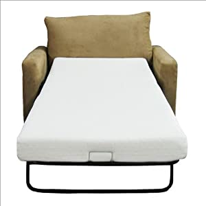 Attractive Classic Brands Sleeper Sofa Memory Foam Mattress TWIN