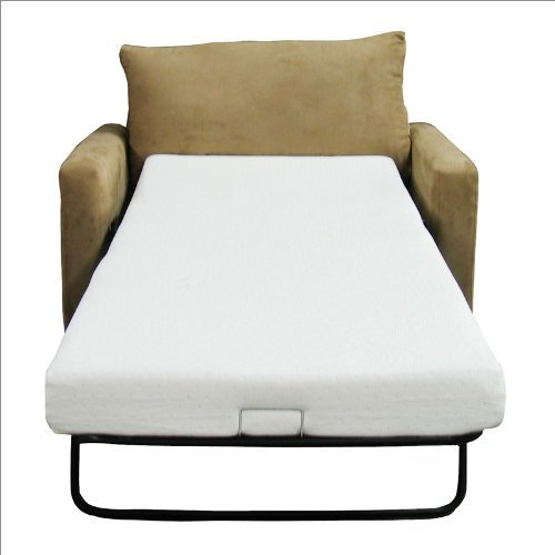 Superbe Classic Brands Sleeper Sofa Memory Foam Mattress TWIN