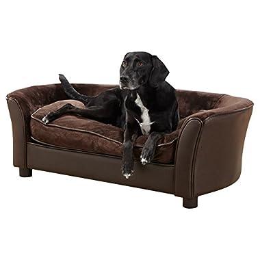 Enchanted Home Pet Brown Ultra Plush Panache Pet Bed