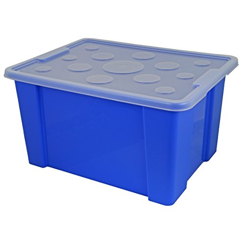 Gies Unibox ca. 30 l, mit Deckel 5622 ca. 47 x 35,4 x 25 cm blau
