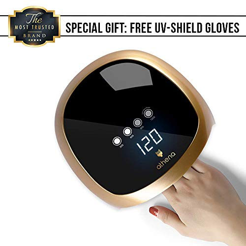 omatic Sensor UV LED Nail Lamp with UV Shield Gloves by athena ()