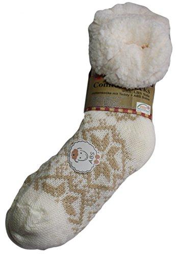 Susis Fashion Shop® - Zapatillas de estar por casa de Poliacrílico para mujer 37/40 Beige