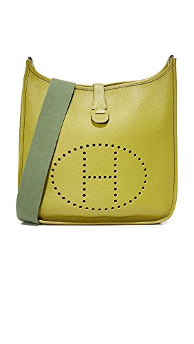Hermes Evelyne Shoulder Bag (What Goes Around Comes Around Women's Hermes Evelyne II Feed Bag (Previously Owned), Green, One)