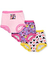 Girls' Toddler Minnie Mouse 3pk Potty Training Pant, Assorted, 3T