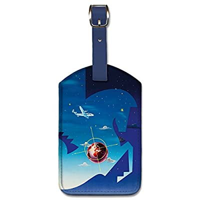 new Leatherette Luggage Tag Baggage Label - Globetrotter by Badia Vilató