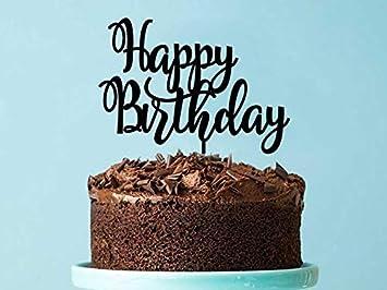 Happy Birthday Cake Topper Pretty Acrylic Fun Decoration Cute Made To Order