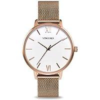 [Patrocinado] Vincero Luxury Eros - Reloj de pulsera para mujer con correa de malla, 1.496in, movimiento de cuarzo japonés