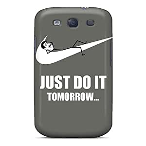 Tpu Case Cover For Galaxy S3 Strong Protect Case - Just Do It Tomorrow Meme Design
