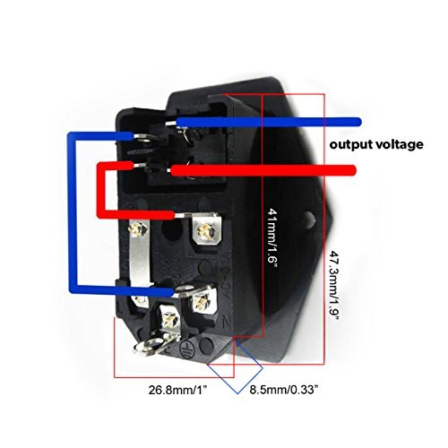urbest u00aeinlet module plug fuse switch male power socket 10a AC Wiring Color Code IEC Electrical Wiring Color Code