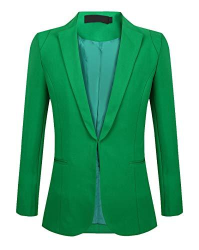 SHUIANGRAN Women's Fashion Casual Lightweight Work Office Blazers for Women and Juniors Green US 8 (tag Asian 2XL)]()