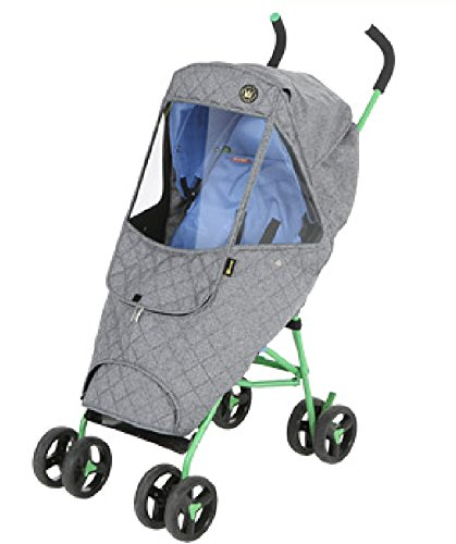 Weathershield Quilted Baby Stroller Cover for Rain + Snow + Wind, Type Mini