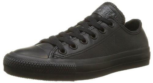 Converse Chuck Taylor All Star Sneaker Bassa In Pelle Nera Mono