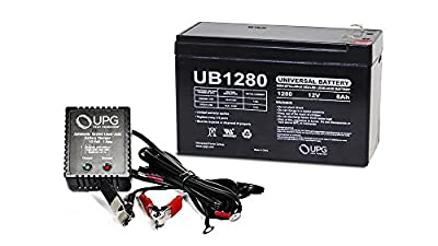 Universal Power Group 12V 8AH Replacement Battery for Sea Doo Sea Scooter ZS06 + 12v 1Amp Charger