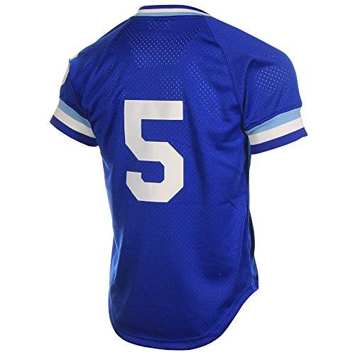 DukeLy Men's_George_Brett_Royal_Blue_Batting_Practice_Jersey