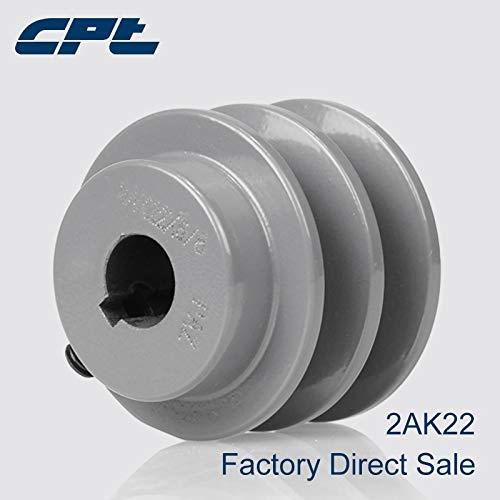 Ochoos CPT 2AK22 V Belt sheave Pulley for A Belt, 2 Grooves, Bore 5/8