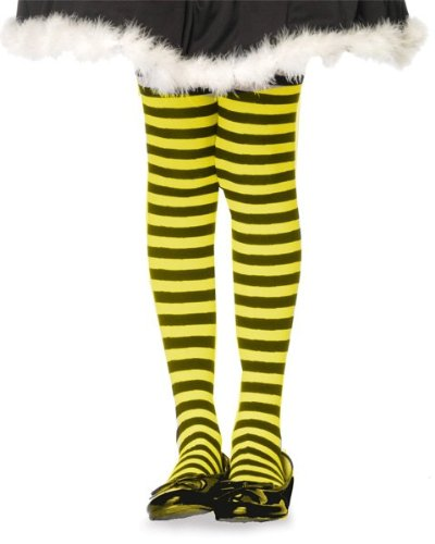 168e3c015a886 Girls Yellow and Black Striped Tights: Amazon.co.uk: Clothing