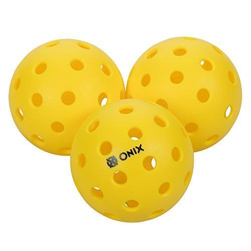 Onix Pure 2 Outdoor Pickleball Balls (4-Pack), Yellow ()
