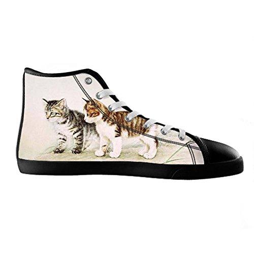 Custom Katzen malen Mens Canvas shoes Schuhe Lace-up High-top Sneakers  Segeltuchschuhe Leinwand ...
