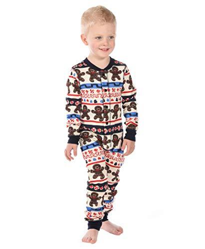 Sweet Cheeks Gingerbread Kids Flapjack Onsie Pajamas by LazyOne   Adult Kid Infant Dog Family Matching Pajamas - Sweet Gingerbread