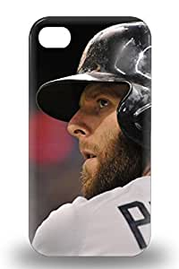 Tpu 3D PC Case For Iphone 4/4s With MLB Boston Red Sox Dustin Pedroia #15 ( Custom Picture iPhone 6, iPhone 6 PLUS, iPhone 5, iPhone 5S, iPhone 5C, iPhone 4, iPhone 4S,Galaxy S6,Galaxy S5,Galaxy S4,Galaxy S3,Note 3,iPad Mini-Mini 2,iPad Air )