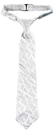 058113a6e62e Image Unavailable. Image not available for. Color: Boys Holy First Communion  Gift Chalice Brocade 14 Inch White Satin Adjustable Dress Tie