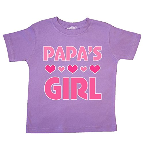 inktastic - Papas Girl Granddaughter Gift Toddler T-Shirt 2T Lavender (Grandpa Kids T-shirt)