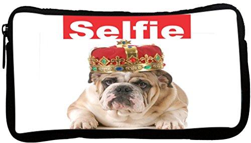 Rikki KnightTM Selfie His Highness English Bulldog Bull dog Neoprene Pencil Case