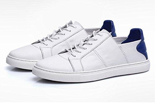 Blanc Cuir Tendance Chaussures Chaussures Hommes Chaussures d'été Chaussures Mode Whiteblue pour Respirant Occasionnels Dentelle en NBWE 4BwqxH4