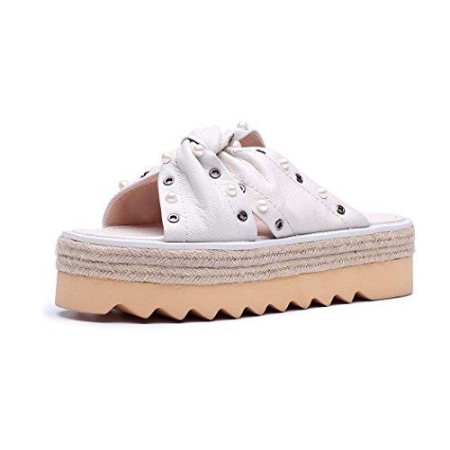 Caviglia Donna ANNIESHOE Aperte Bianco sulla qfOaS