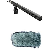 Rode NTG2 Condenser Shotgun Microphone with Rode Deadcat Wind Muff Microphone Cover
