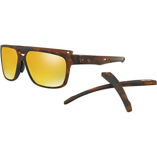Oakley Men's Crossrange Patch (a) Non-Polarized Iridium Rectangular Sunglasses, Matte Brown Tortoise, 60.0 - Oakley Patch